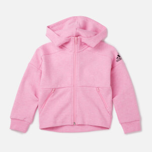 adidas Young Girls' ID STA Full Zip Hoody - Pink