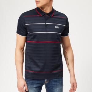 BOSS Men's Paddy 5 Stripe Polo Shirt - Navy