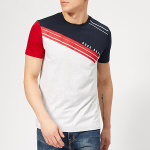 BOSS Men's Vintage Style T-Shirt - Navy/Red/Grey