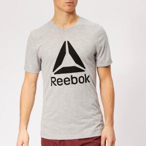 Reebok Men's WOR Supremium 2.0 Graphic Short Sleeve T-Shirt - Grey Heather