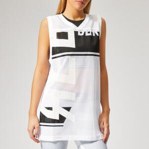 Reebok Women's WOR MYT Mesh Basketball Tank Top - White