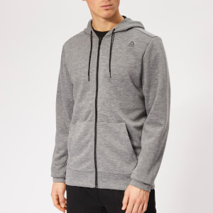 Reebok Men's Wor Mel Double Knit Full Zip Hoodie - Grey Heather