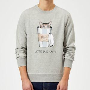 Barlena Latte Mac-Cat-O Sweatshirt - Grey