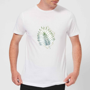 Barlena Geometry and Nature Men's T-Shirt - White