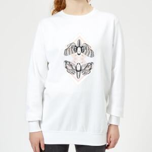 Barlena Moth Women's Sweatshirt - White