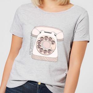 Barlena Phone Call Women's T-Shirt - Grey