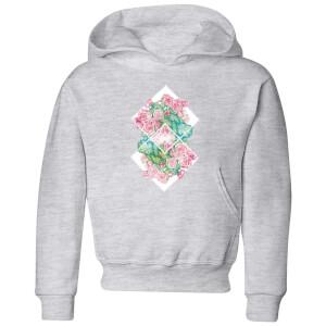 Barlena Flowers Kids' Hoodie - Grey