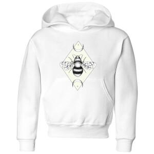 Barlena Bee Confident Kids' Hoodie - White