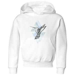 Barlena Hummingbird Kids' Hoodie - White