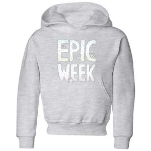 Barlena Epic Week Kids' Hoodie - Grey