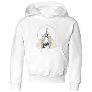 Barlena Into The Wild Kids' Hoodie - White