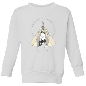 Barlena Into The Wild Kids' Sweatshirt - White