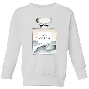 Barlena Ocean No5 Kids' Sweatshirt - White