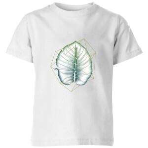 Barlena Geometry and Nature Kids' T-Shirt - White