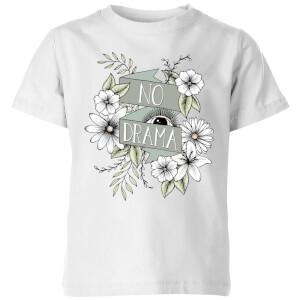 Barlena No Drama Kids' T-Shirt - White