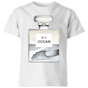 Barlena Ocean No5 Kids' T-Shirt - White