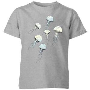 Barlena Jellyfish Kids' T-Shirt - Grey