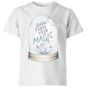 Barlena Show Them Your Magic Kids' T-Shirt - White