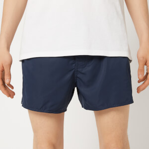 Emporio Armani Men's Tape Detail Swim Shorts - Navy