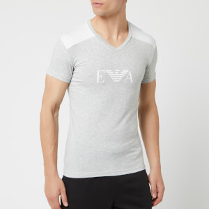 Emporio Armani Men's Shoulder Detail T-Shirt - Grey