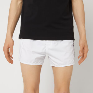 Emporio Armani Men's Embroidered Swim Shorts - White