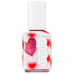 essie Galentines Valentine Collection 602 Sparkles Between Us Pink Glitter Top Coat 13.5ml