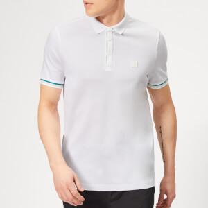 BOSS Men's Printcat Polo Shirt - White