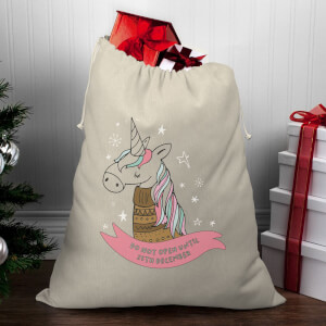 Winter Unicorn Christmas Santa Sack
