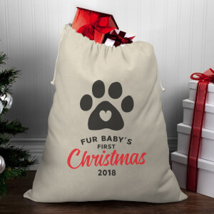Fur Baby's First Christmas Christmas Santa Sack