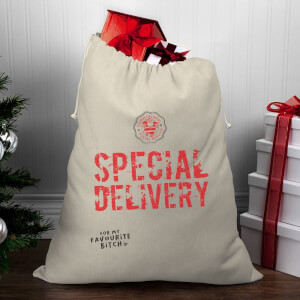 Special Delivery for My Favourite Bitch Christmas Santa Sack