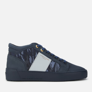 Android Homme Men's Propulsion Mid Geo Metallic Camo Nubuck Trainers - Navy/Sky