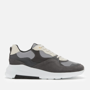 Android Homme Men's Malibu Reflective Nubuck Trainers - Aluminium/Anthracite/Off White