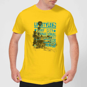Surf City Men's T-Shirt - Yellow