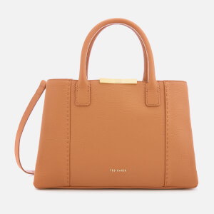 Ted Baker Women's Colesa Soft Grain Faceted Bar Small Tote Bag - Tan