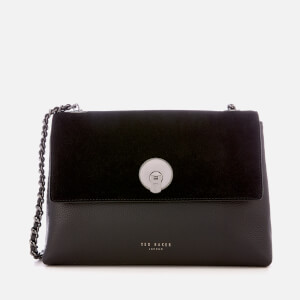 Ted Baker Women's Sylvana Circle Lock Cross Body Bag - Black