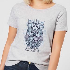 Aquaman Atlantis Seven Kingdoms Women's T-Shirt - Grey