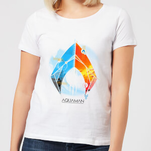 Camiseta DC Comics Aquaman Back To The Beach - Mujer - Blanco