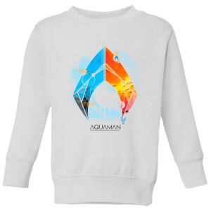 Aquaman Back To The Beach Kids' Sweatshirt - White