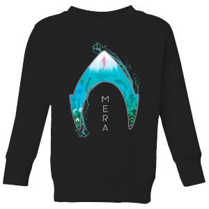 Aquaman Mera Logo Kids' Sweatshirt - Black