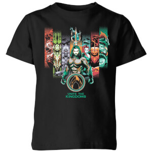 Camiseta DC Comics Aquaman Unite The Kingdoms - Niño - Negro