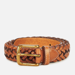 Polo Ralph Lauren Men's Westend Braid Leather Belt - Saddle