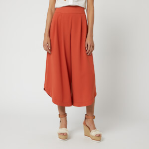 See By Chloé Women's Wide Leg Trousers - Peppery Red