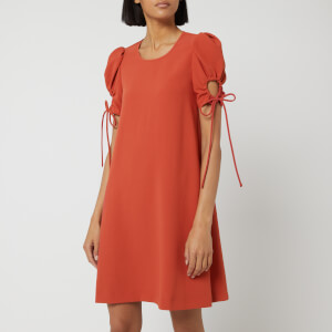 See By Chloé Women's Tie Sleeve Dress - Peppery Red