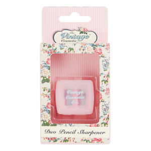 Двойная точилка для карандашей The Vintage Cosmetic Company Pink Polka Dot Duo Pencil Sharpener