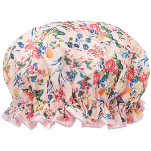 Шапочка для душа The Vintage Cosmetic Company Shower Cap — Pink Floral Satin