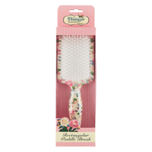 The Vintage Cosmetic Company Floral Rectangular Paddle Hair Brush prostokątna szczotka do włosów