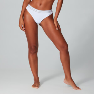Myprotein Women's Logo Thong - 2 Pack - White