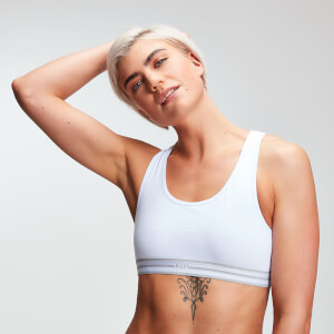 Logo Crop Top (2 Pack) - White