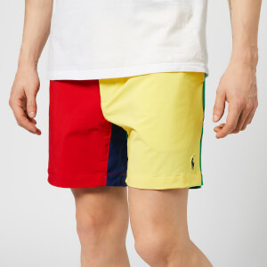 Polo Ralph Lauren Men's Prepster Colour Block Swim Shorts - Red/Yellow/Blue