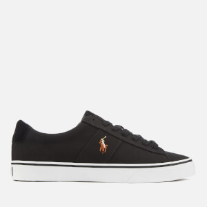 Polo Ralph Lauren Men's Sayer Canvas Low Top Trainers - Black